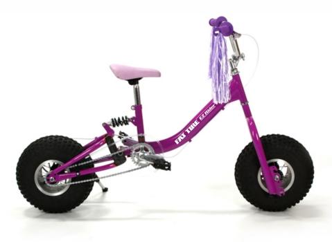 Adjustable Kids Bike Girls Pink Fat Ez Rider Adjustable Fat Tire